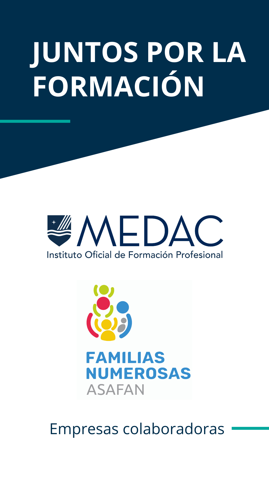 ASAFAN and MEDAC unite to promote post-compulsory training among large families.